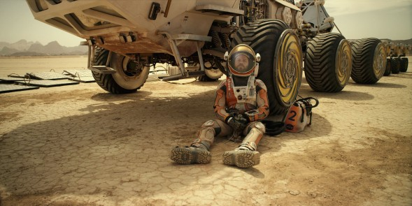 Matt Damon portrays an astronaut who faces seemingly insurmountable odds as he tries to find a way to subsist on a hostile planet.